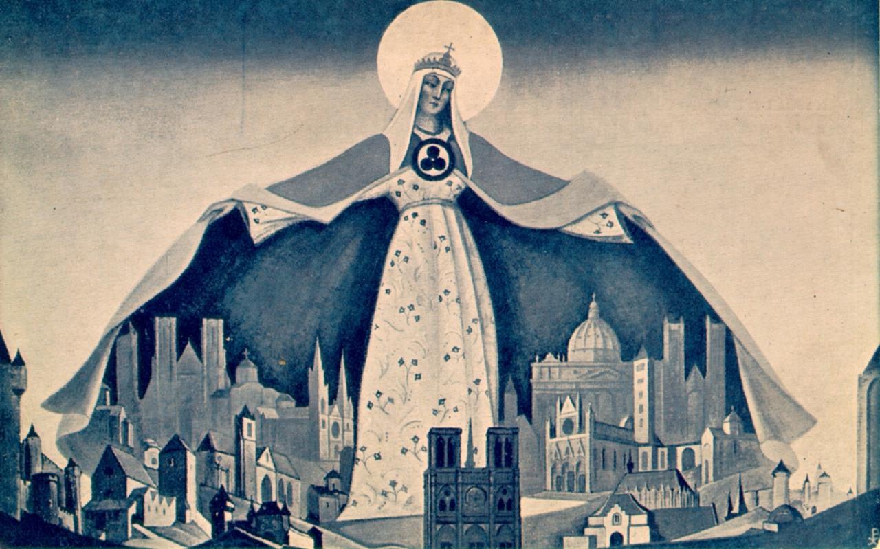 Н.К. Рерих. Мадонна - Защитница. 1933